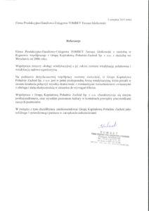 Firma Produkcyjno-Handlowo-Usługowa TOMBET Tomasz Idzikowski